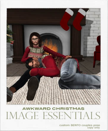 Awkward Christmas couples pose - $100L